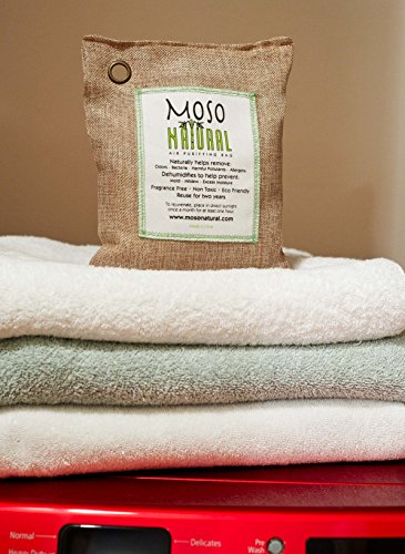Moso Natural 200g and 500g Air Purifying Bag Deodorizers. Odor Eliminator for Cars, Closets, Bathrooms and Pet Areas. Absorbs and Eliminates Odors Natural Color by Moso Natural (Image #1)
