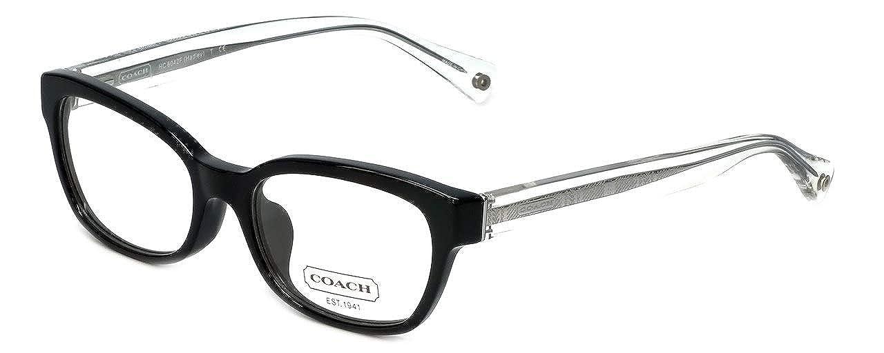 3faa6360e11b Amazon.com  Coach Hadley Eyeglasses HC6042 5002 Black Demo Lens 50 17 135   Shoes