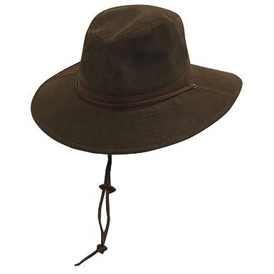 e46b222ef81d07 DPC Outdoor Design Men's Oil Cloth Big Brim Safari Hat, Brown, 2XL ...