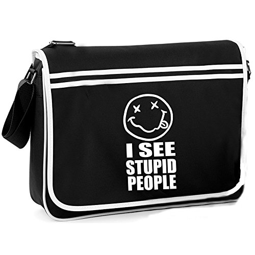 I See Stupid People - Retro Shoulder Bag