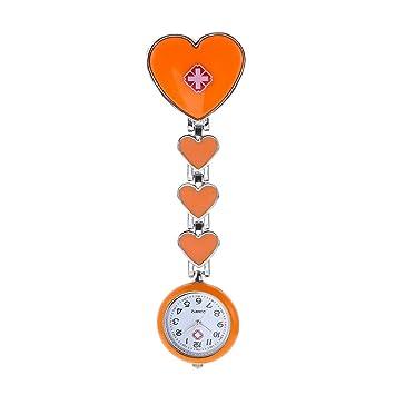 NIGHT WALL Enfermeras Doctores, Encantador Ángel Blanco Enfermeras Reloj Hora médico Cofre Bolsillo Reloj Reloj Hora Marea Reloj Femenino Reloj niños Cuarzo ...