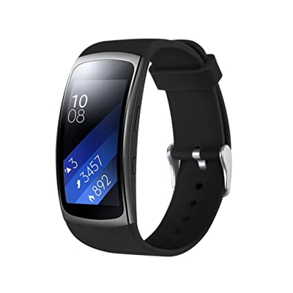 squarex Recambio reloj correa de muñeca banda para Samsung Gear FIT2 Pro Fitness, color negro