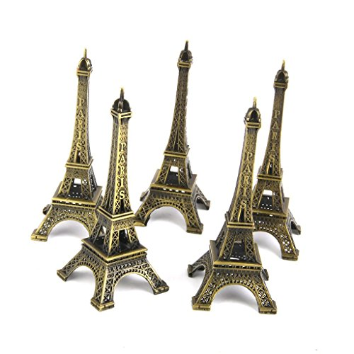 (Grocery House Cute Adornment 3d Eiffel Tower French Souvenir Paris Keychain (Pack of 12))