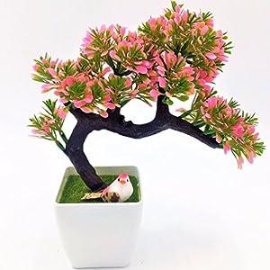 1pc Pine Emulate Bonsai Simulation Artificial Flowers Fake Green Pot Plants 2