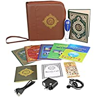 Hitopin Newest Digital Quran Pen QuranTalking Reader Word by Word Function Holy Quran Pen with English Arabic Urdu French Spanish German etc. 5 Small Learning Books Louder Speaker