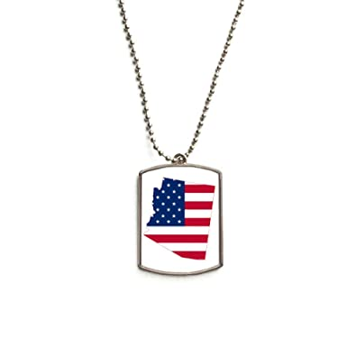 QQJSY Arizona EE. UU. Mapa Estrellas Forma de Bandera de Acero ...