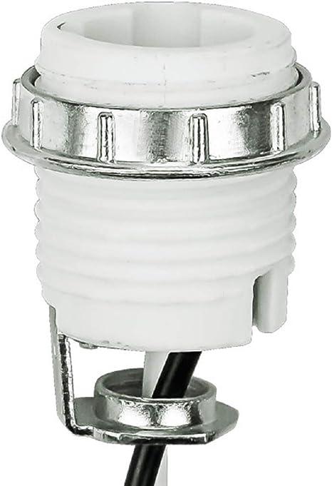 medium base Keyless socket with 1//8 IP Hickey new