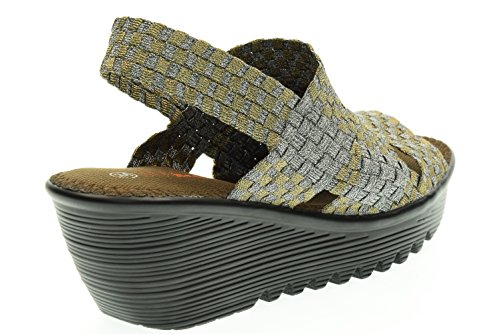 sandals woman MEV BM LEVEL with BERNIE wedge Bronzo Bronze xzAqaOUwWq