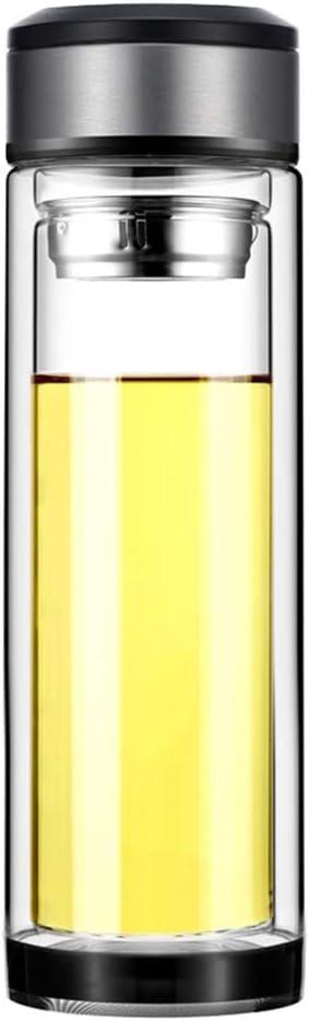 HATTA Doble Vidrio Taza de Termo, Vidrio Aislante con Filtro Vaso Termico, Vidrio Transparente, para Oficina/Exterior, etc. (320ML)