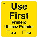 """DayMark Safety Systems IT112439 """"USE FIRST""""  DissolveMark Dissolvable Label, 2"""" x 2"""" (Roll of 250)"""