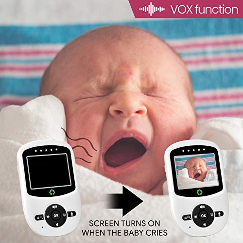 2018 Model Total Connection Company Video Baby Monitor, Wireless, Digital Camera, 2.4'' LCD Display, Clear Infrared Night Vision, Temperature Monitoring, 2-Way Talk, Newborn Lullaby (Camera+Monitor) by Total Connection Company (Image #8)