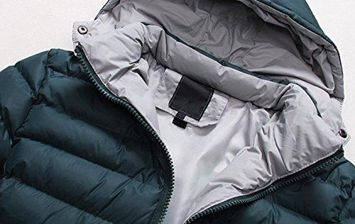 anorak R SODIAL invierno abrigo Hombres 2014 abajo Abrigo Caliente sudadera Verde capucha chaqueta M con fqqzrdx