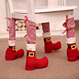 TAOtTAO 4PC Foot Chair Or Table Leg Covers Bag Xmas Party Christmas Table Decorations
