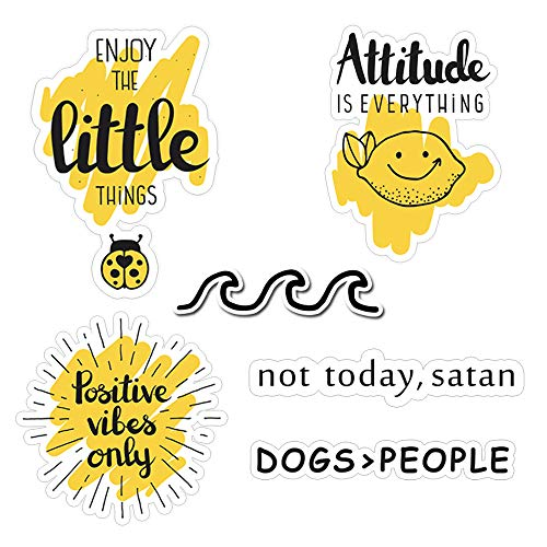 Cute Stickers for Hydro flasks[10pcs] Cute, Positive, Lovely, Trendy, Aesthetic, Waterproof Vinyl Sticker for Teen, Girls, Feminists - for Water Bottles Laptop MacBook Computer iPhone iPad Guitar