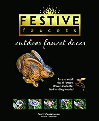 Festive Faucets - Rabbit Garden Faucet Handle - Universal Outdoor Faucet Handle