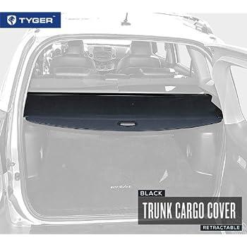 Amazoncom TYGER Black Retractable SUV Rear Trunk Cargo Cover