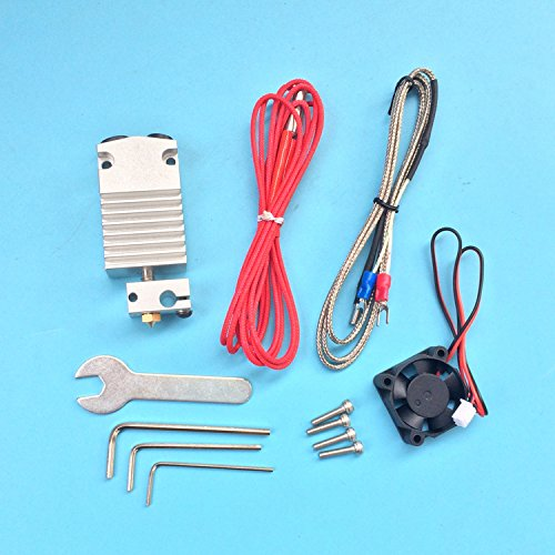 WillBest 3D Printer Parts 2 in 1 Out hotend Single Head Dual Color Print Head extruder with Cables Full kit by WillBest