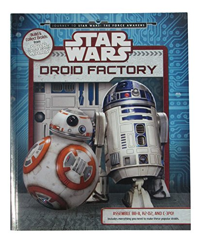 Star Wars The Force Awakens Droid Factory Paper Model Construction Kit Featuring Bb 8  R2 D2  C 3Po