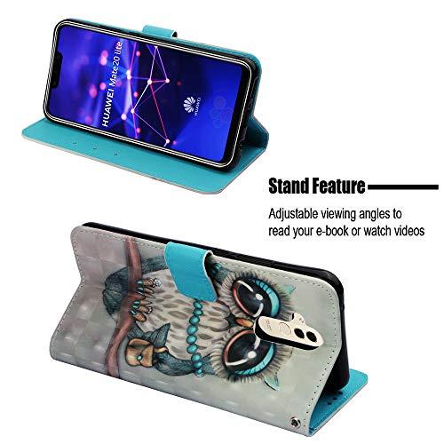 Portafoglio Morbido Magnetico Huawei Lite Mate Caso Protettiva Modello Fantasia Antiurto Cover Con Case Shell Custodia Gufo 20 Flip Pu Hopmore Design Pelle Cranio Molle Silicone Grigio xqFYZwCWwU