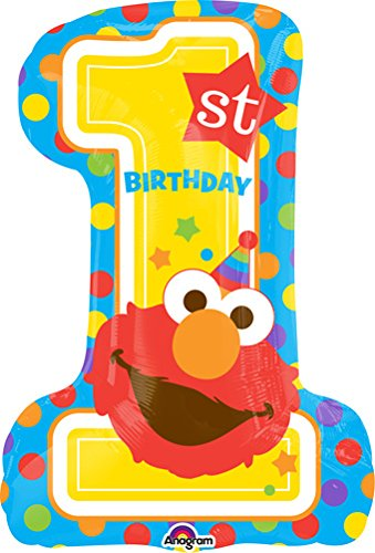 Elmo 1st Birthday Balloon (Elmo Girl Party Supplies)