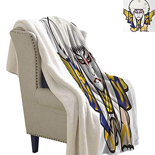 Jinguizi Kabuki Mask Light Thermal Blanket Character for sale  Delivered anywhere in USA