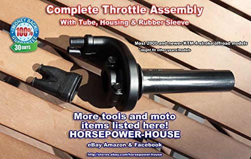 Throttle Tube and Assembly Housing with Sleeve for most KTM 4-stroke four stroke offroad motocross dirtbike SXF XCF EXC MXC SMR SXS (Motocross Tubes)