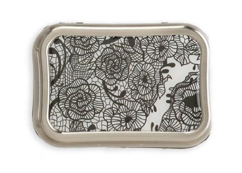 Designer Black Lace Case Contact Lens