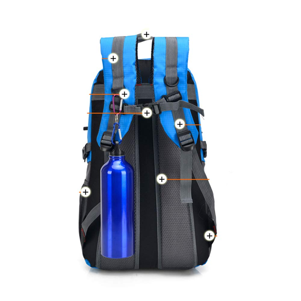 New Simple Outdoor Mountaineering Bag Large Blue Men and Women Shoulder Bag Sports Bag Leisure Travel Tourism Backpack