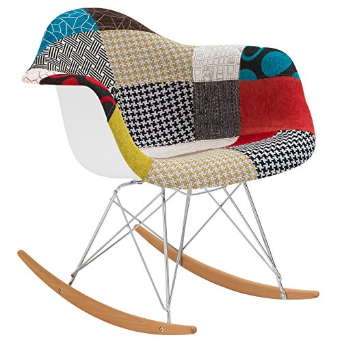 Cheap Poly and Bark Patchwork Rocker, Multicolor