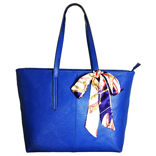 Minch 906 Pu Leather Designer tote Handbags shoulder Bags for Women Work on clearance large (Deep Blue)
