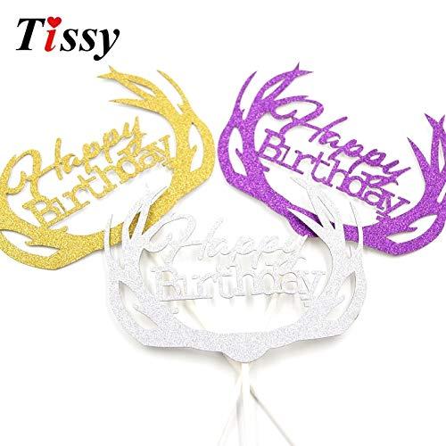 Toppers Cupcake Halloween Halloween Birthday Cake Toppers 6PCS Handmade Shiny Cake Toppers