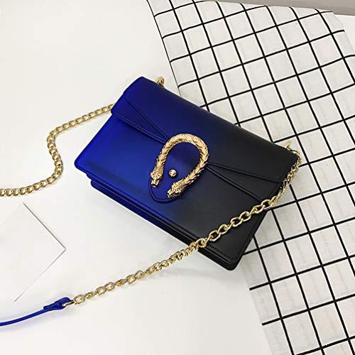 Bolso Teléfono Mujeres Las del Bolsos Móvil del Verano de YAANCUNN de la La Cadena Bolso Pequeños Manera Mini Azul Del Bolsos Diagonal Paquete ZO6xdq5w6S
