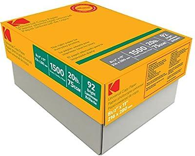 "KODAK Universal Copy Paper, 8-1/2 x 11"" - 92 Bright White Paper, 3 reams/Carton"