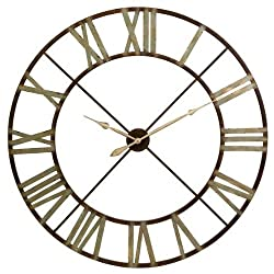 Edward Wall Clock, 48D, BROWN