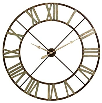 Amazoncom Edward Wall Clock 48D BROWN Home Kitchen