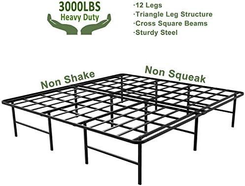 home, kitchen, furniture, bedroom furniture, beds, frames, bases,  bed frames 2 picture 45MinST 16 Inch Platform Bed Frame/2 Brackets deals
