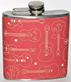 Music Guitar Guitars Acoustic 4 oz Stainless Steel Liquor Hip Flask Gift