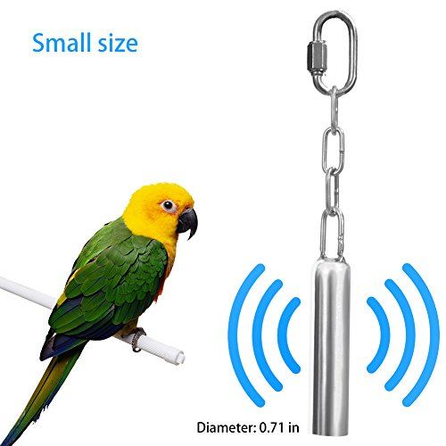 Parrot Toys Stainless Steel Bell Toys for Parrot, African Grey, Mini Macaws, Small Cockatoos and The Others Small Animals, Easy for Birds Squirrel Cage Stand (Small) ()