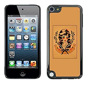 Diy Yourself GagaDesign / Hard Skin case cover Pouch - 60'S Retro Wreath Art - Apple 90nnKqiNw6b iPod Touch 5
