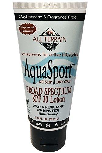 All Terrain AquaSport SPF30 Sunscreen 3oz, Mineral Sunscreen, With Zinc Oxide, Using Natural Ingredients (All Terrain Aqua Sport Sunscreen)