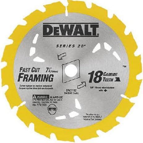 thin kerf saw blade. dewalt dw3592b10 7-1/4-inch 18t carbide thin kerf circular saw blade b