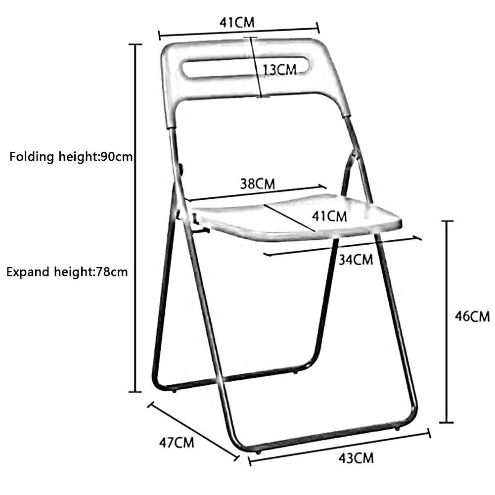 DALL Stolar plast hopfällbar stol möbler stapelbara pallar inomhus bankett sittplatser flerfärgad (färg: RÖD) Svart