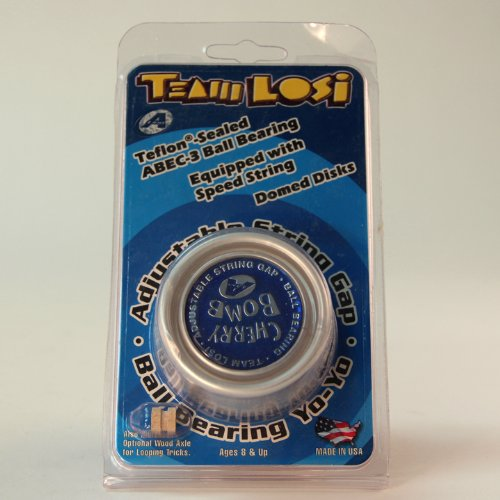 Team Losi Cherry Bomb Yo-Yo - Rare and Collectable - Cherry Bomb Yo-Yo - Silver (Starburst Ring Adjustable)
