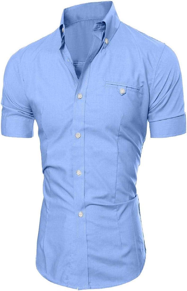 Camisas de Verano para Hombres Camisa Polo de Manga Corta con ...