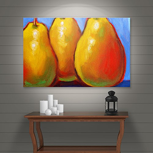Art Wall 'Gang of Pears' Gallery Wrapped Canvas Art by Susi Franco, 24 by - Stores In Ri Warwick