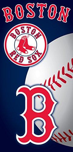 The Northwest Company MLB Boston Red Sox Emblem Beach Towel, 28 x 58-Inch