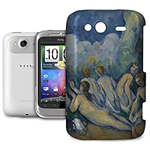 Phone Case For HTC Wildfire S - Cezanne Bathers Art Painting Snap-On Back