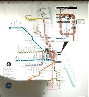 Amazon.com: Boston Transit Map Shower Curtain: Home & Kitchen
