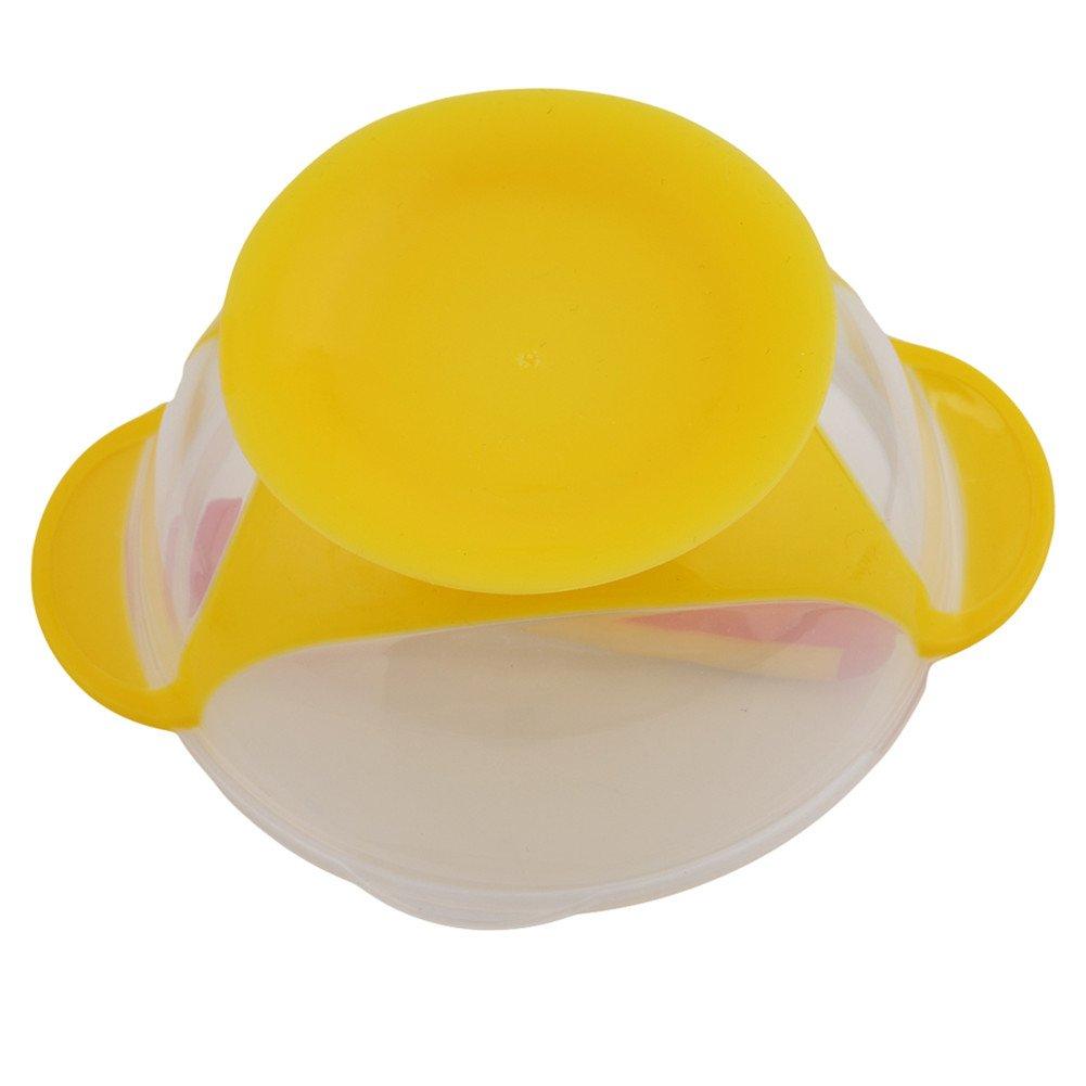 jaune Bol Ventouse Anti Renversement pour B/éb/é ODN B/éb/é Enfants Bol /à ventouse avec temperature-sensing Cuill/ère