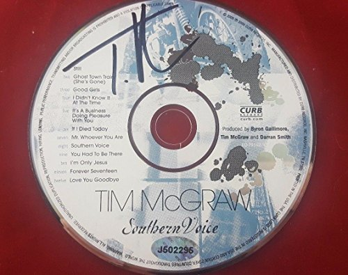 - Country Music Tim Mcgraw Signed CD Autograph W/COA Southern Voice